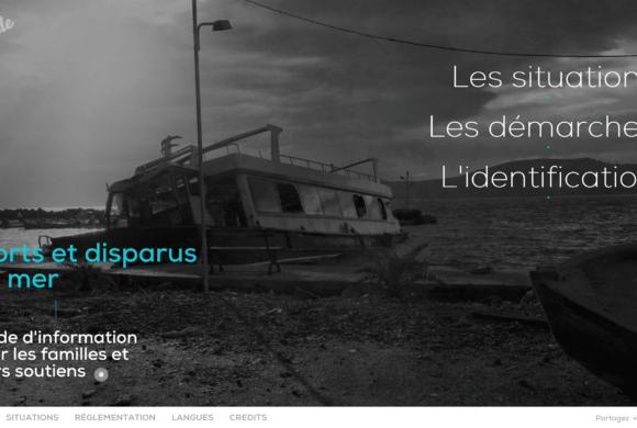Web guide d'information pour les familles de personnes disparues en Méditerranée