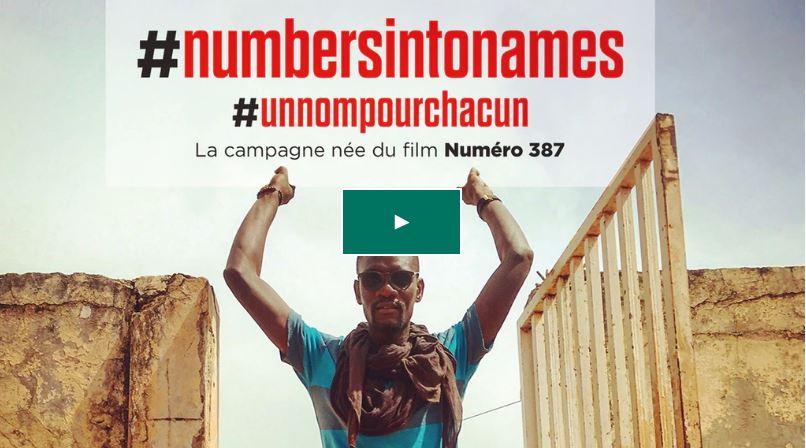 Numéro 387 Disparu en Méditerranée : le film qui lance la campagne #NUMBERSINTONAMES
